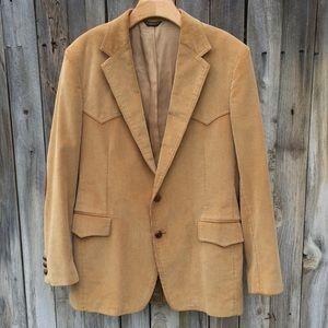Vintage Levi's Western Corduroy Jacket Camel 42R